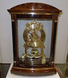 BULOVA - VALERIA - CONTEMPORARY MANTEL CLOCK SOLID WOOD CASE/HIGH GLOSS FINISH