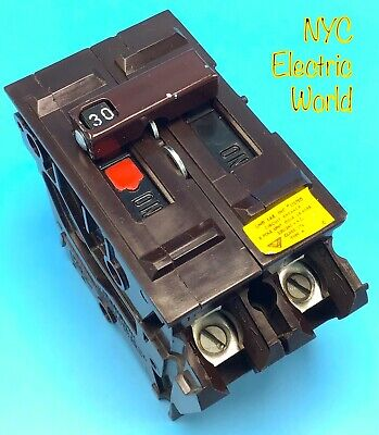 1 Circuit Breaker Wadsworth A230 30 Amp 2 Pole Plastic Tabs Plug In Large