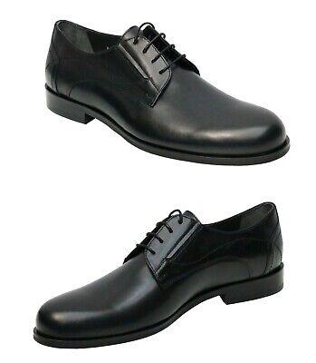 Zapatos Piel Hombre Para Ancho Pies Gr.40 Negro