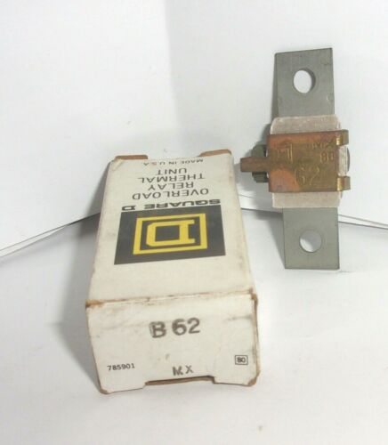 SQUARE D B62  OVERLOAD RELAY THERMAL UNIT HEATER B 62  NEW IN BOX