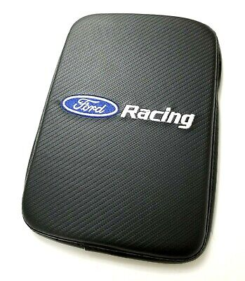BRAND NEW FORD RACING Carbon Fiber Car Center Console Armrest Cushion Pad Cover  Racing Carbon Fiber