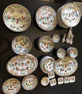 Plate/Bowl Set Handpainte 1980 Chicken Lot 88 Piece Kitchen/table Set Croydon Burwood Area Preview