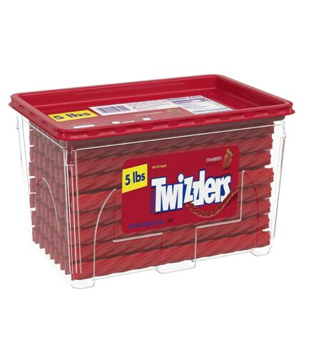 Twizzlers Halloween Candy, Bulk Strawberry Licorice, 5 Pounds, Canister