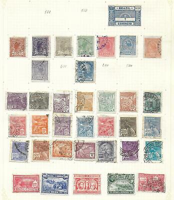 Brazil stamps 1917 Collection of 36 stamps HIGH VALUE!