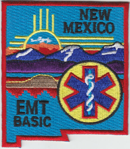 New Mexico EMT BASIC shoulder patch NM state shaped emergency medical technician