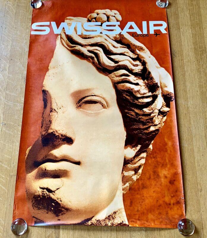 SWISSAIR EUROPE 1964 Airlines Poster MANFRED BINGLER Vintage Original