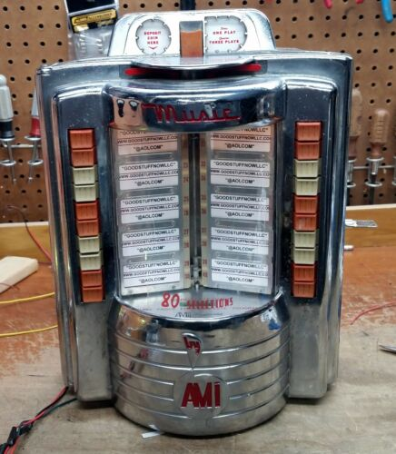 AMI WALLBOX JUKEBOX MODEL W-80 RESTORED - STOCK # 5619
