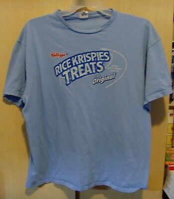 RICE KRISPIES TREATS SHIRT The Original Kellogg's Marshmallow Snack T-Shirt - XL](Blue Rice Krispie Treats)