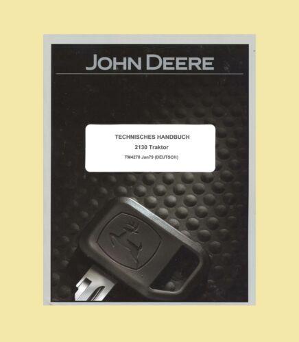 John Deere Technisches Handbuch Werkstatthandbuch Traktor 1120