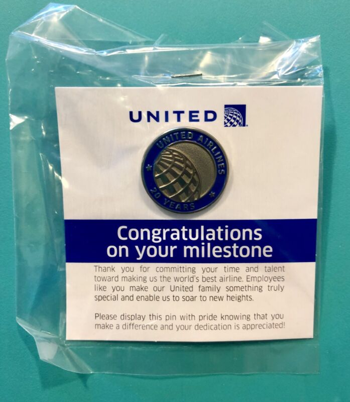 UNITED AIRLINES 20 YEAR SERVICE PIN