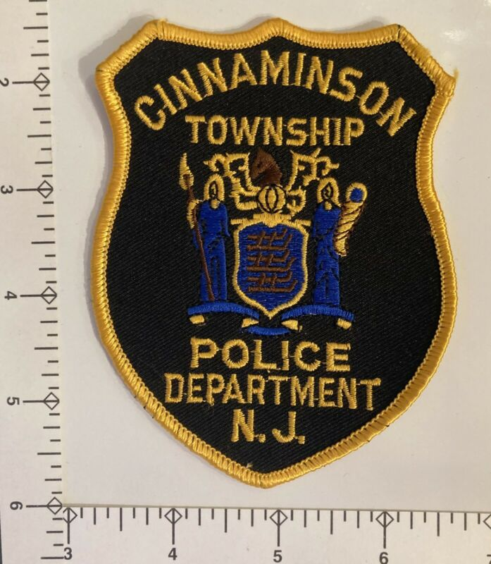 Vintage *Black* Cinnaminson Township New Jersey NJ Police Patch