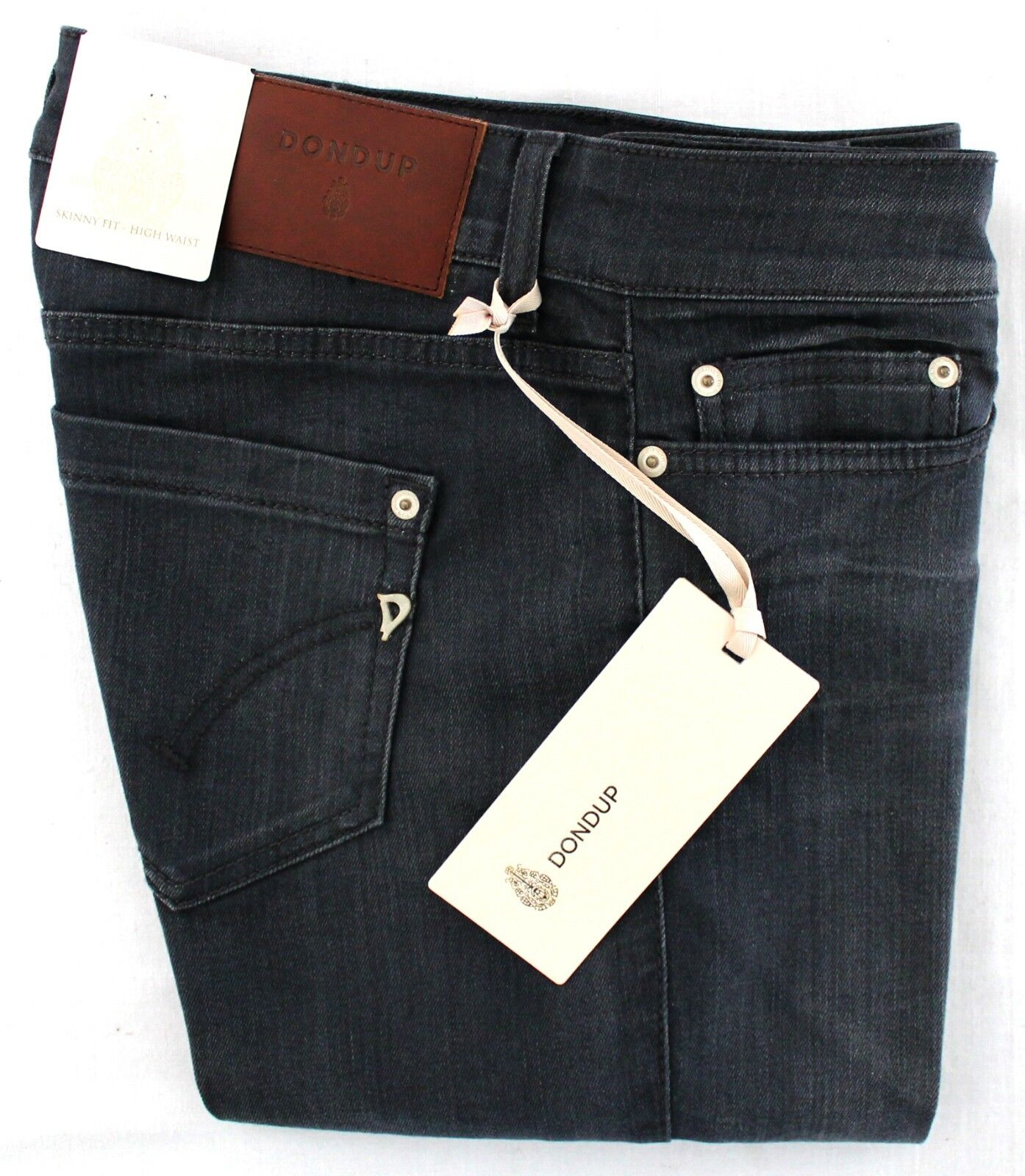 JEANS DONNA DONDUP SKINNY FIT HIGH WAIST STRETCH ELASTICIZZATO DENIM NEWLONG