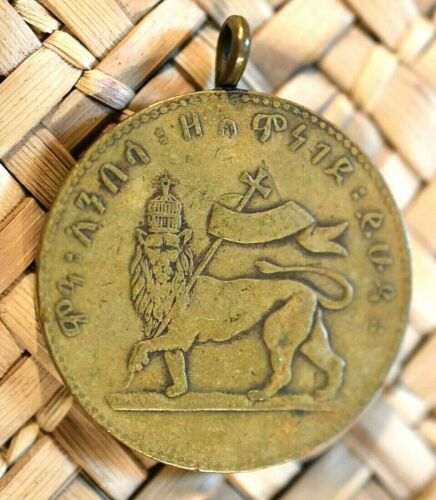 Rare Antique Emperor Menelik II Merit Medal First Class Gold Grade 1899 Ethiopia