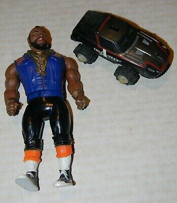"""Vintage 1983 Galoob Cannell A-Team Mr. T BA Bracus 6"""" Action Figure Plus sm Car"""