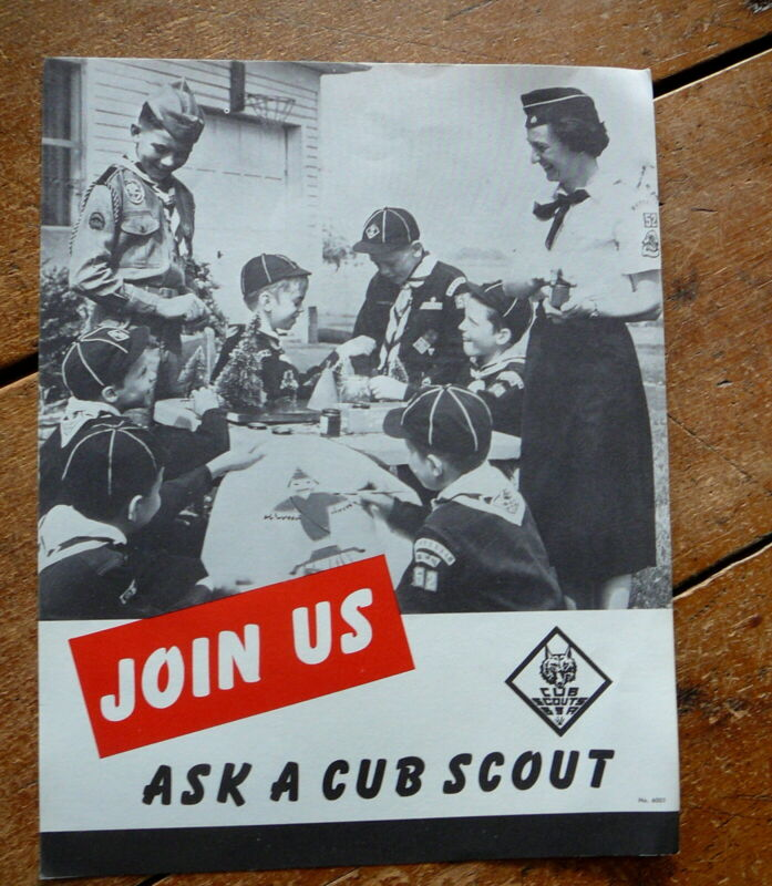 BOY SCOUTS of AMERICA - Vintage 1962 - CUB SCOUTS RECRUITING POSTER - JOIN US
