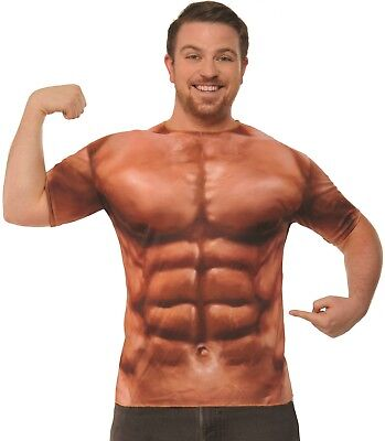 Adult Muscle Shirt Costume Standard (Adult Muscle Costume)