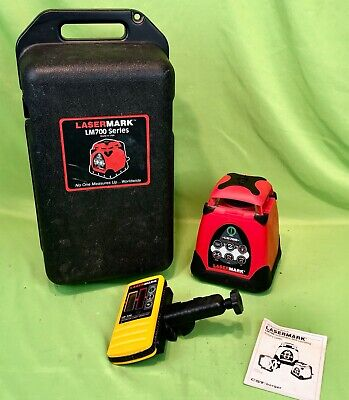 Cstberger Lasermark Lm700 Automatic Self Leveling Rotary Laser Ld120 Detector