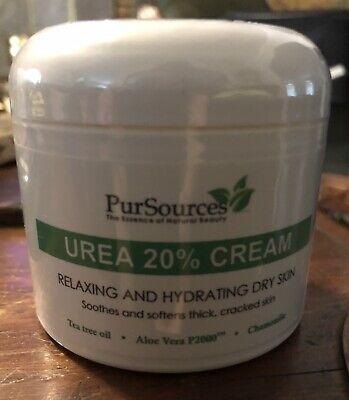 PurSources Urea 20% Healing Cream 4 oz Best Callus Remover, Moisturizes (Best Callus Remover Cream)