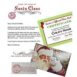 """PERSONALIZED LETTER from SANTA with """"Nice List"""" Certificate & Autographed Photo!"""