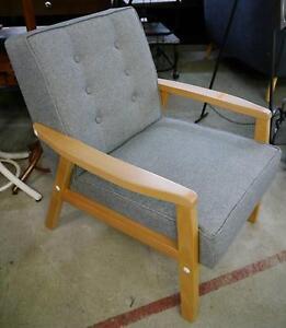New Scandinavian Design Grey Fabric Lounge Chair Armchair Melbourne CBD Melbourne City Preview