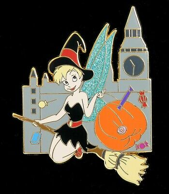 Disney TINKERBELL as a WITCH LE 100 Halloween Costume Pin New On Card