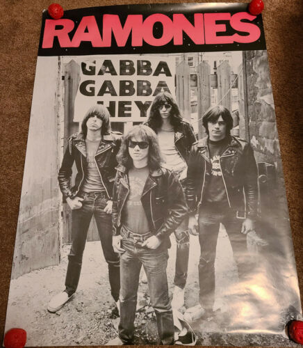 Ramones Poster original members RARE