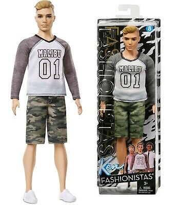 Barbie Fashionistas Ken Doll 8 Wearing Broad Camo Comeback Malibu 01 T-Shirt