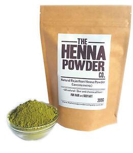 200g Henna Powder - Rajasthani - Mehndi - High Quality For Hair And Body Art.