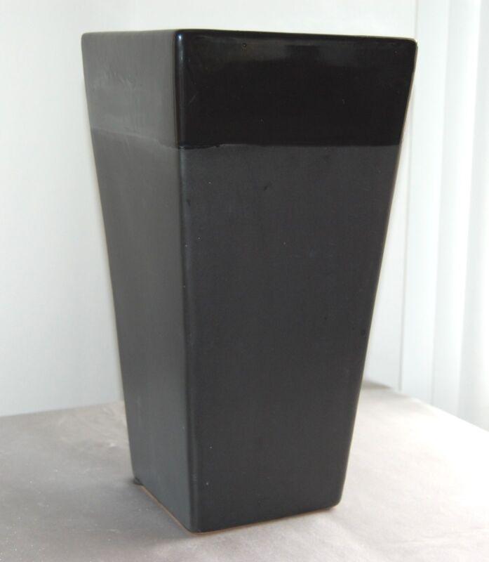 "Contemporary Tall 13 1/2"" Two-Tone Black  Ceramic Vase JaNice Interiors Accents"