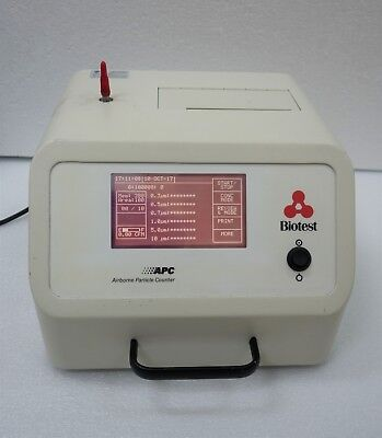 Biotest P3610 Airborne Particle Counter Apc Portable Powers Up Successfully
