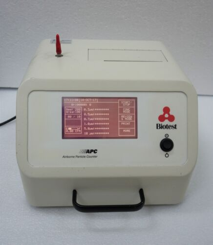 BIOTEST P3610 AIRBORNE PARTICLE COUNTER APC PORTABLE *POWERS UP SUCCESSFULLY*