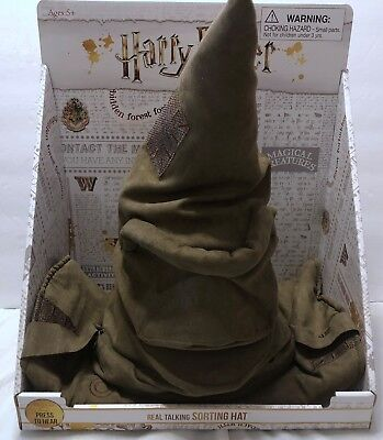 Harry Potter Talking & Animatronic Sorting Hat SEE VIDEO Magical Creatures