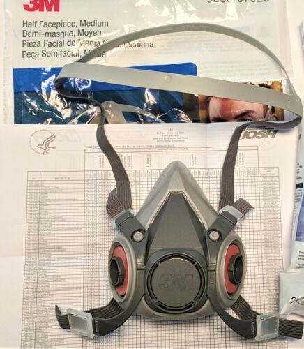 3M Half Facepiece Reusable Respirator 6200 Medium WITHOUT filters (no filters)