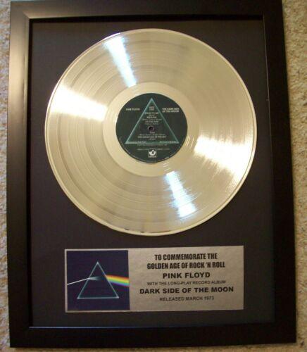 Pink Floyd DARK SIDE OF THE MOON Platinum White Gold LP Record + Mini Album Disc