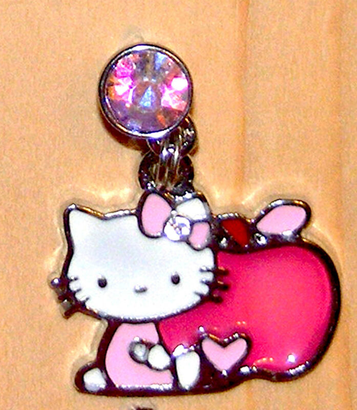 Hello Kitty Pink Apple teachers pet Cell phone dust cover Plug