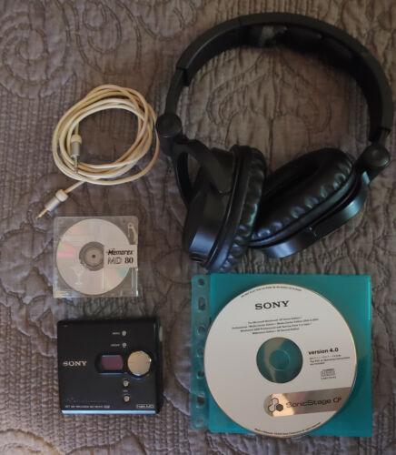 SONY MZ-NE410 NET MD WALKMAN Mini Disc Player + Extras