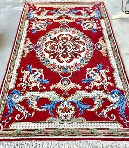 """Traditional Hand-Knotted Wool Persian Area Rug 6'5"""" X 10'7"""""""