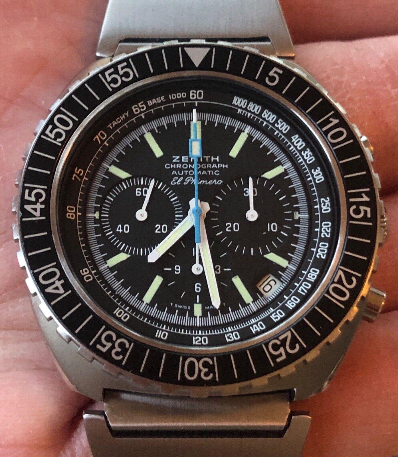 Vintage Zenith Pilot Diver Chronograph, lobster bracelet, El Primero 01.0190.415 - watch picture 1