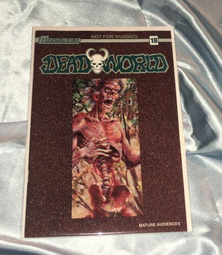 DEADWORLD #18~VINCENT LOCKE ART~ZOMBIES/WALKING DEAD~HTF~CALIBER COMICS BOOK~