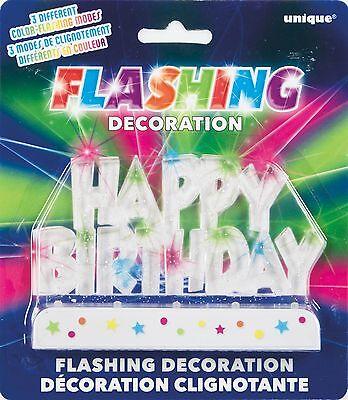 Cake Topper HAPPY BIRTHDAY LED Flashing Decoration FREE SHIPPING!! - Flashing Happy Birthday