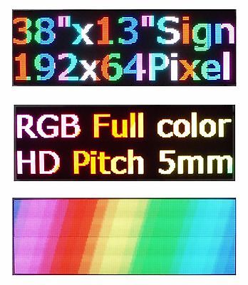 Led Sign P5 Full Color Indoor 38x 12 Programmable Scrolling Message Display
