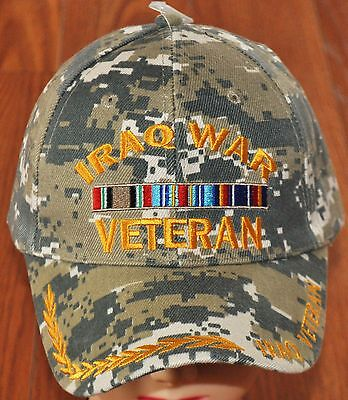 Military Camo Iraq War Veteran Army Hat Baseball Ball Cap Digital Camouflage