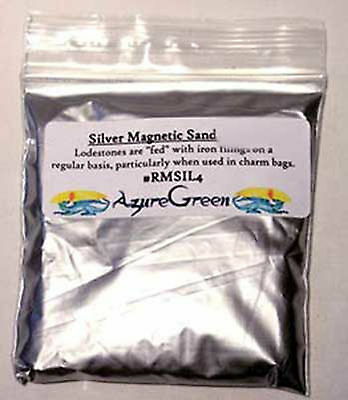 Ritual SILVER LODESTONE FOOD Magnetic Sand 1 ounce