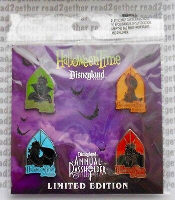 Disney Pin DLR Halloweentime 2012 Annual Passholder Villains Set