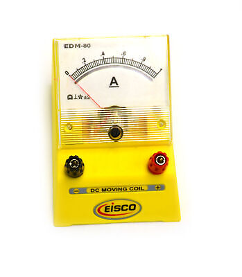 Eisco Labs Analog Ammeter Dc Current Meter 0 - 1 Amp 0.02a Resolution