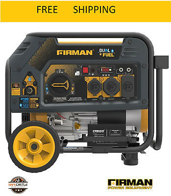 New Firman Hybrid Series H03651 36504550 Watt Dual Fuel Generator Yellow