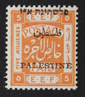 Palestine Jer I, 5m, Mispalaced Overprint Veriety, MNH Stamp #a410l