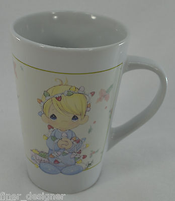 PRECIOUS MOMENTS TALL COFFEE MUG 2006 SHERWOOD BRANDS CHRISTMAS Ceramic Tea Cup