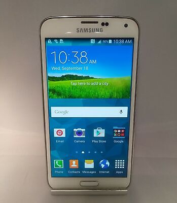 Used, Samsung Galaxy S5 16GB Shimmery White AT&T Fair Condition for sale  Shipping to Canada