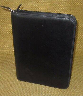 Deskclassic 1.5 Ring Black Leather Day-timer Plannerbinder Fits Franklin